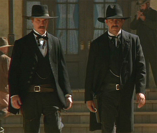 Movie costumes through time in Wyatt Earp, at Pirates Cave